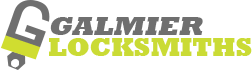galmier auto locksmiths logo gray